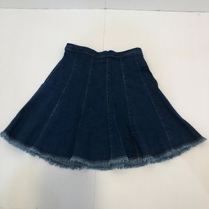 vintage 80's jean skirt with high waist
